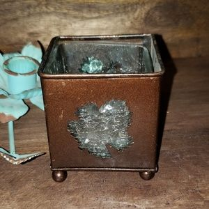 Other - Small Metal leaf candle holder